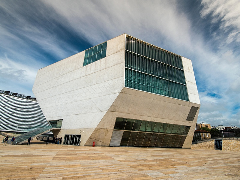 The Casa da Música's 1,300-seat Grand Auditorium has glass at both ends that turns the view of the city into a dramatic backdrop to all performances that happen inside the hall. Photograph: Alamy