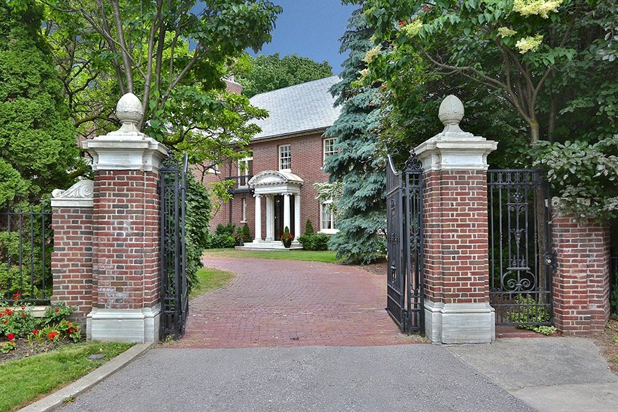 This historic Neo Georgian-style  residence in Toronto's Rosedale neighborhood spans more than 18,000 square feet of luxurious living spaces.