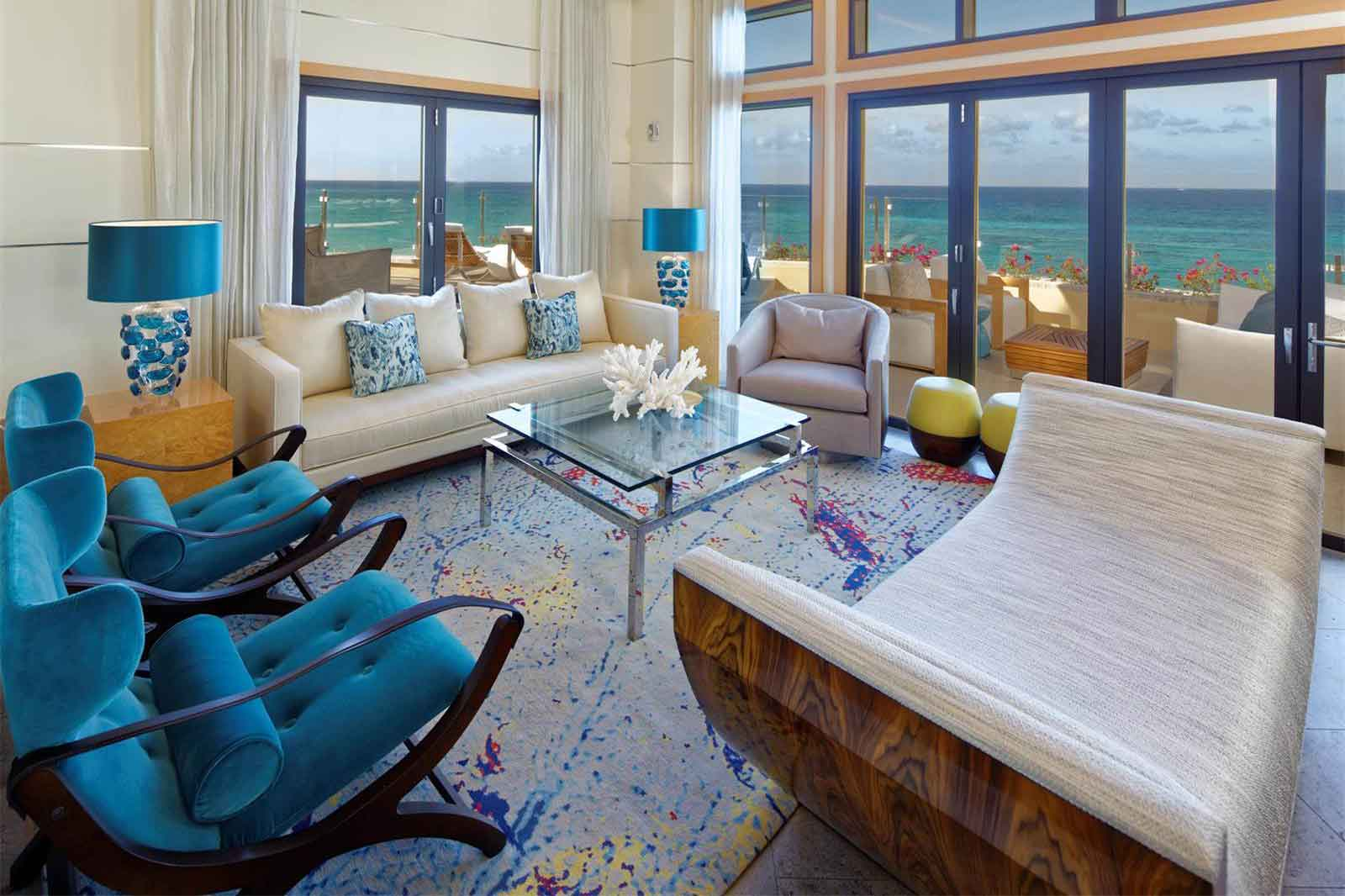 A luxury penthouse atop The Ritz-Carlton Grand Cayman, 700 Seven South's views are unrivaled in the Caribbean: endless vistas of sugar-white sands and crystalline turquoise waters.