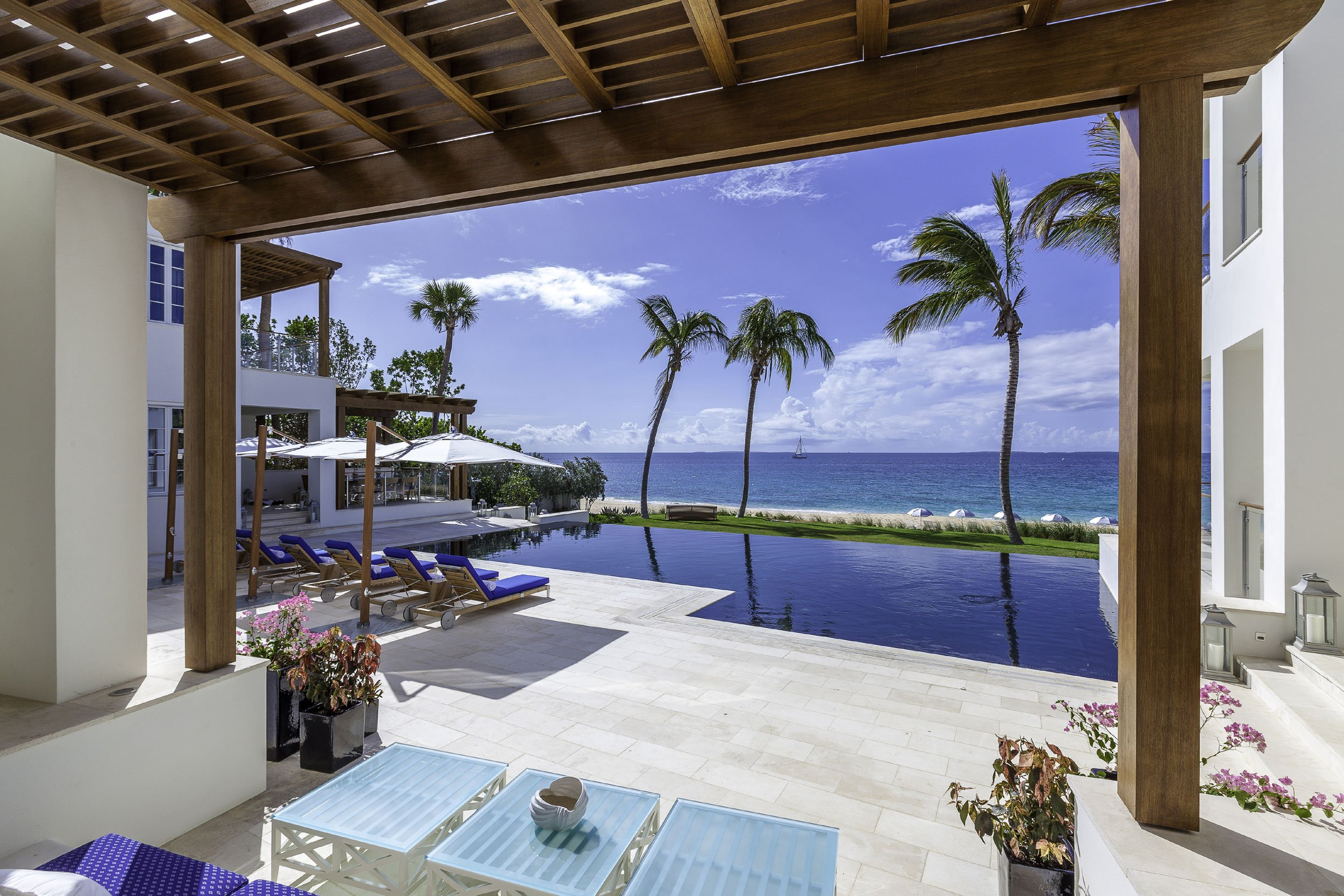 One of the most luxurious and exclusive beachfront properties in the Caribbean, Cerulean Villa rests amid tropical gardens on a secluded stretch of beachfront on Barnes Bay in Anguilla.