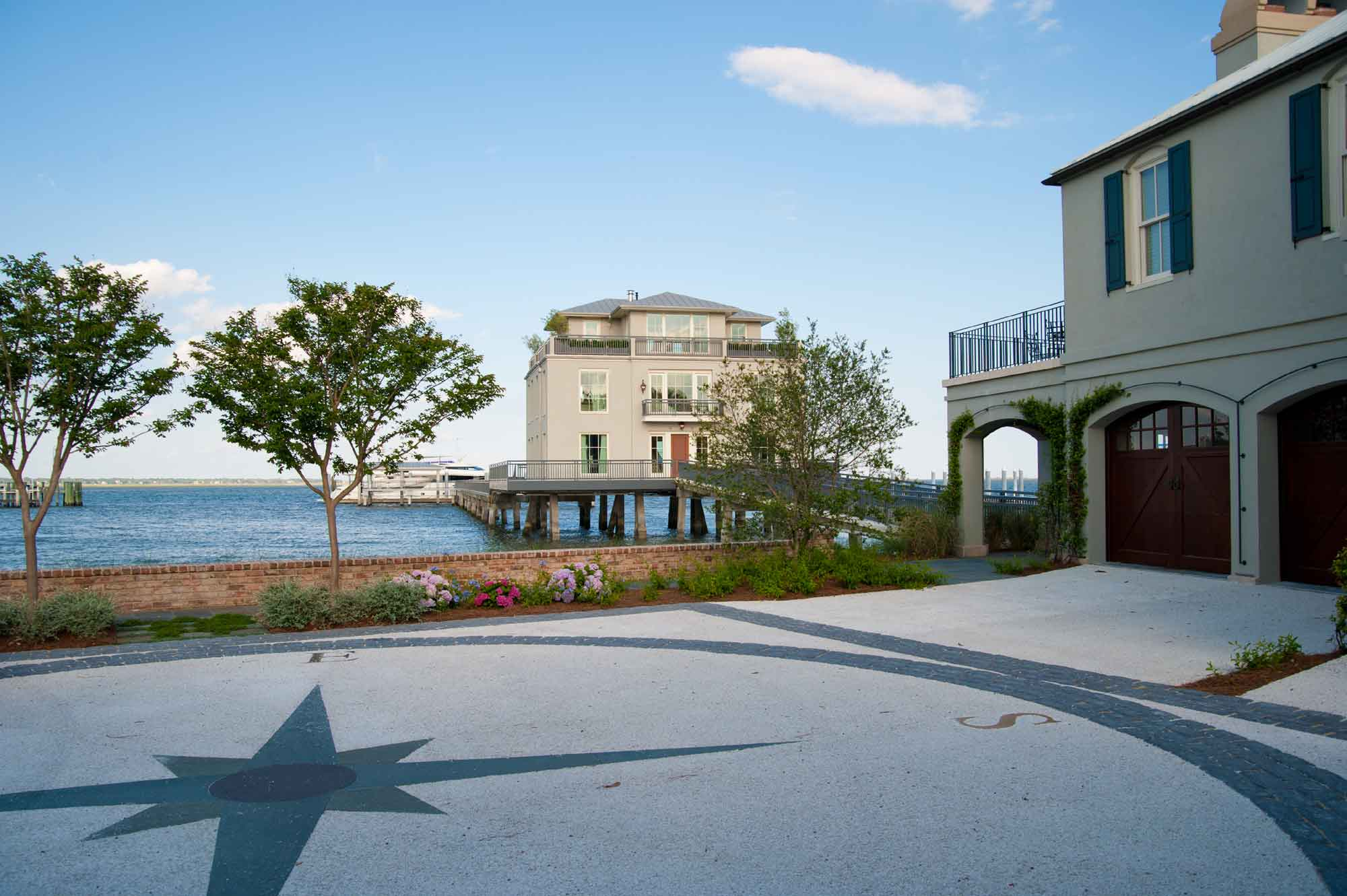 The Charleston Harbor Estate is the only private residence in downtown Charleston with its own boat dock. Wraparound decks facing the ocean are the ultimate venue to view the stars and indeed the total solar eclipse: Charleston, South Carolina, is the biggest city within the path of totality and the last to witness the awe-inspiring sight of day turned into night!