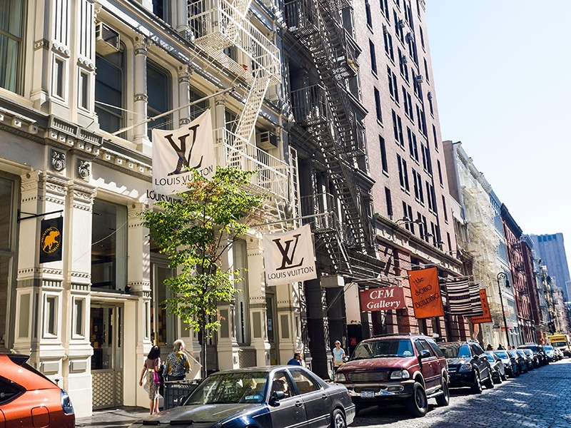 Long associated with artists' lofts, art galleries, and bohemian lifestyles, SoHo is now a thriving shopping district filled with designer boutiques, world-class hotels, and an ever-growing list of destination restaurants. Photograph: Alamy