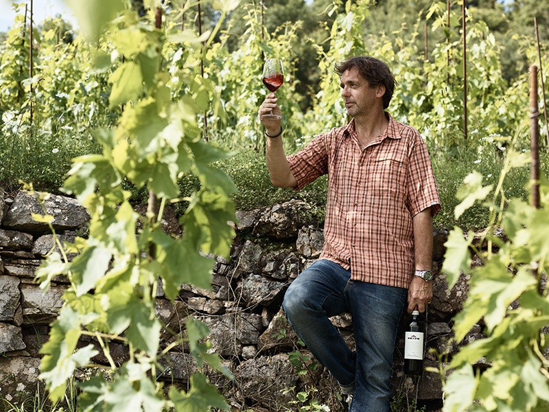 "Sean O'Callaghan, winemaker at Riecine aims to achieve ""fresh, elegant, fruit-driven wines."""