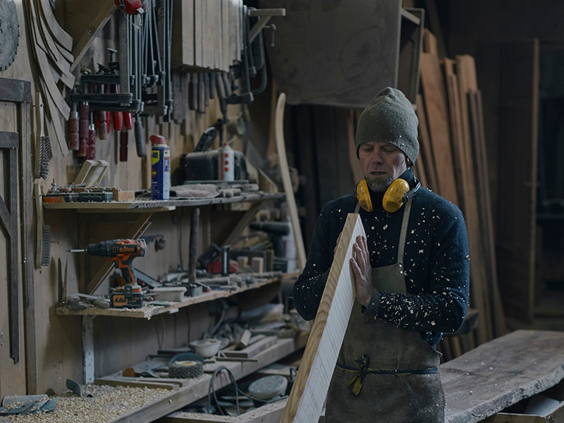 Choosing the right wood – Steltzner can work with almost any variety – is the starting point for any pair of bespoke skis from Rabbit on the Roof. Photograph: Alexander James