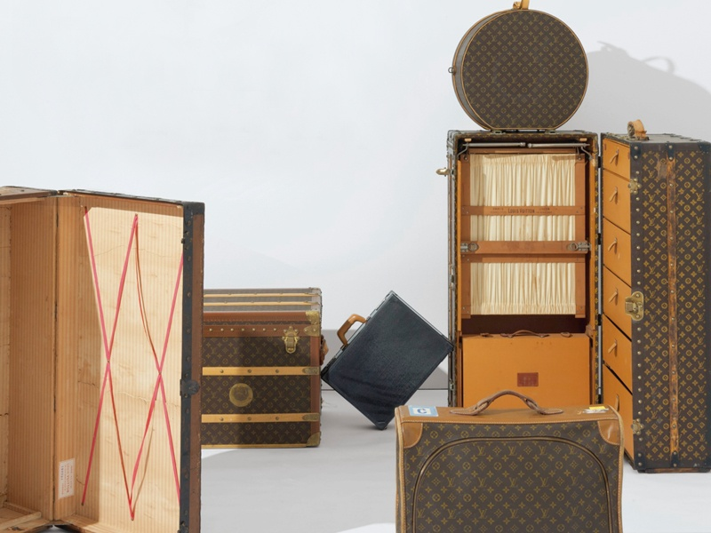 A Christie's auction is a reliable way of acquiring vintage luggage. Banner photograph: Detail of a monogram canvas man's trunk by Louis Vuitton, 1992, which sold at Christie's New York in September 2016 for $11,250 against a pre-sale estimate of $6,000-$8,000. Photographs: Christie's Images Ltd, 2017