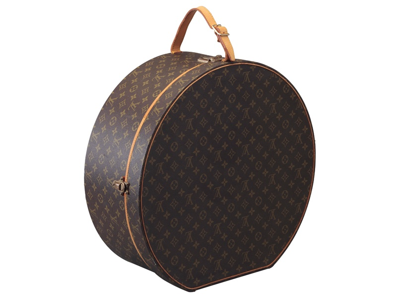 Hat boxes are often used as chic home accessories; this monogram canvas <i>boîte à chapeaux</i> by Louis Vuitton sold at Christie's New York in September 2016 for $875. Photograph: Christie's Images Ltd, 2017