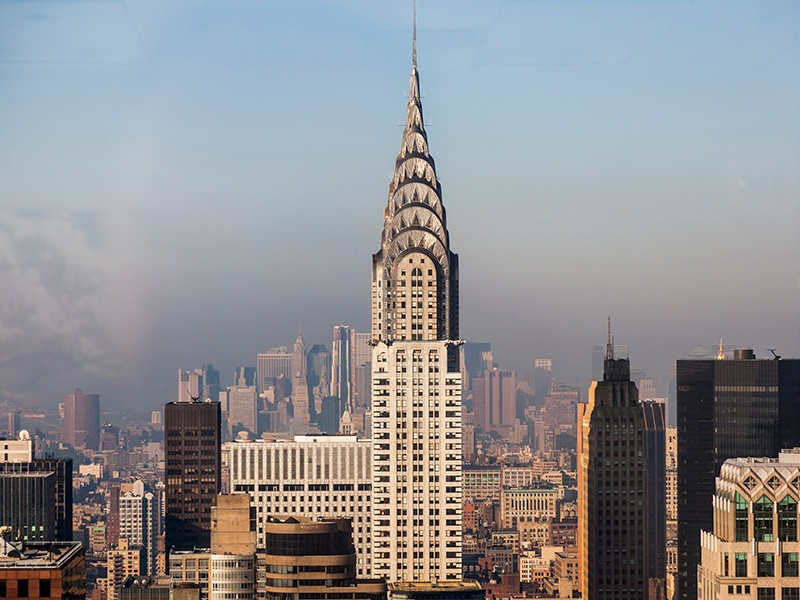 William Van Alen's Art Deco Chrysler building was built in 1930 and remains one of the world's most recognizable buildings.
