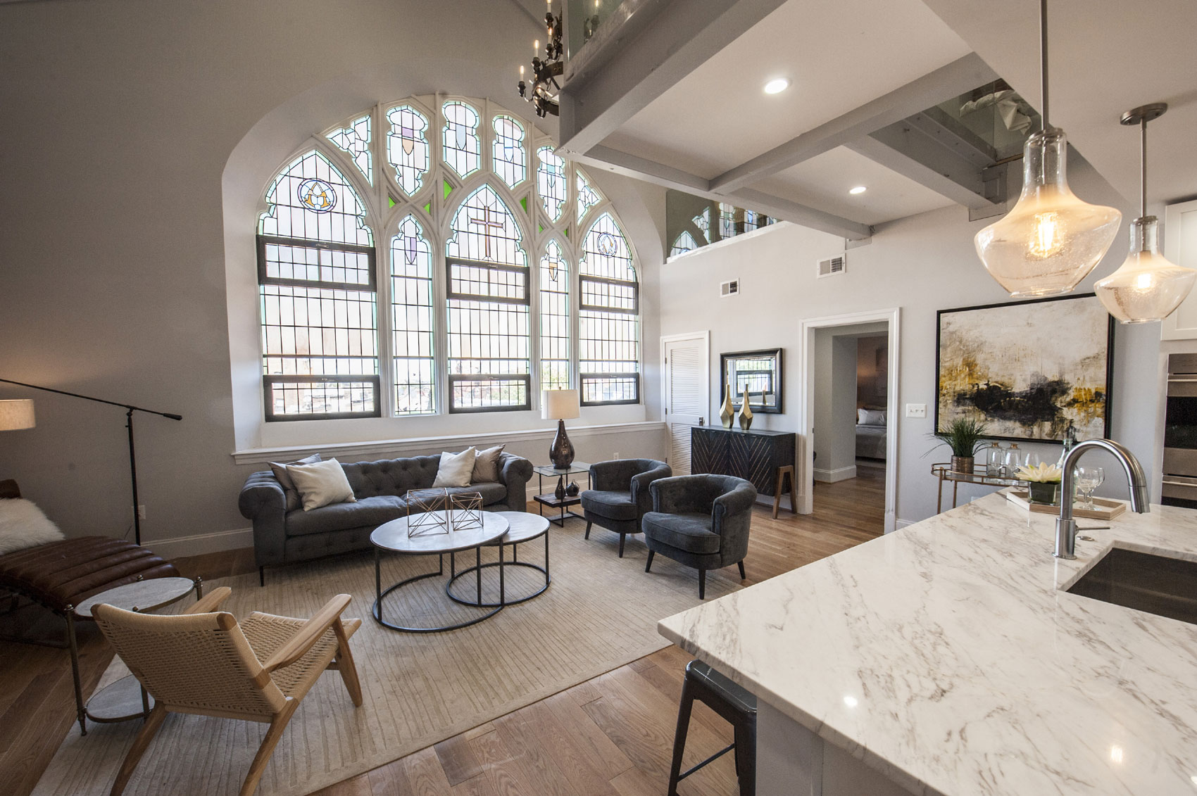 This one-of-a-kind penthouse is the jewel in the crown of The Sanctuary, a collection of 30 distinctive residences housed in a former 19th-century Gothic-Revival church.