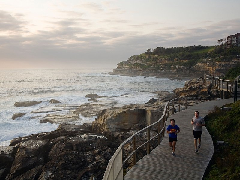 A coastal run is a great way for locals or visitors to enjoy this stunning environment, and keep fit, says  health and exercise professional Rebecca Gawthorne. Photograph: Alamy