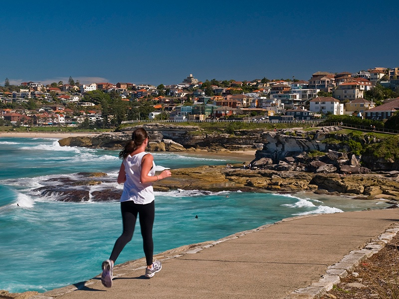 Sydney is very much an outdoor city, with popular running clubs taking advantage of the climate; workout classes of every type are widely available, including yoga and Pilates. Photograph: Getty Images