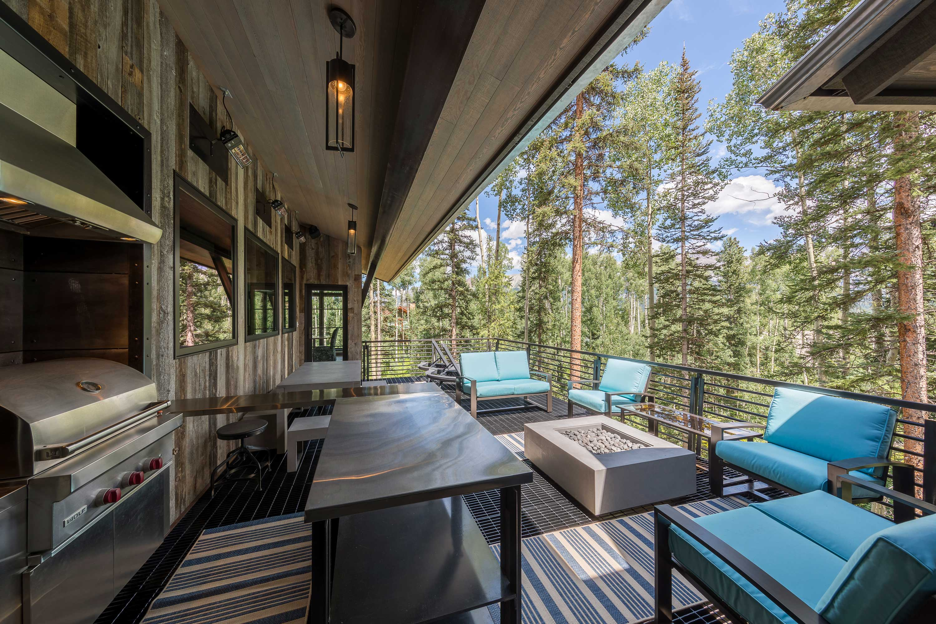 This luxurious home in Telluride Ski Resort was designed to take in views of pristine pine forests and the soaring peaks of the San Sophia range.