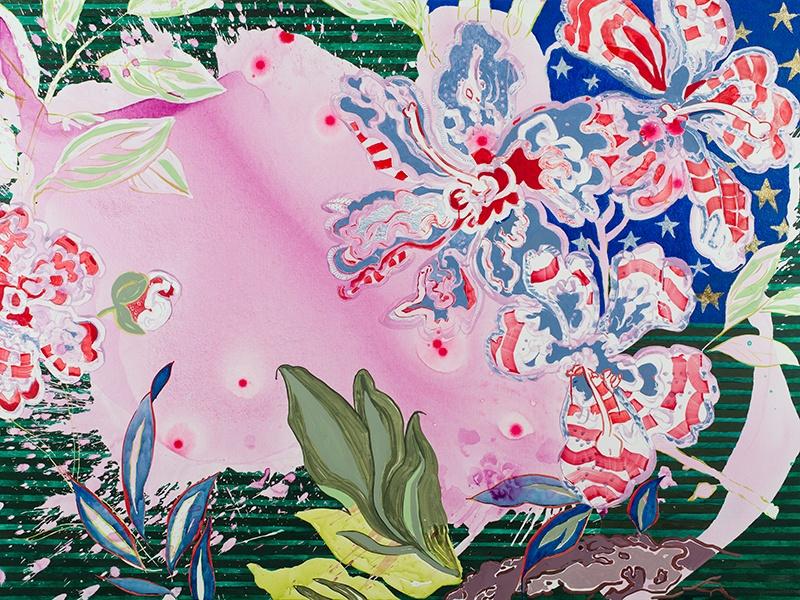 Elisabeth Condon, <i>Love, American Style</i>, 2016. Acrylic on linen, 54 x 72 inches. Courtesy Emerson Dorsch Gallery, Miami, Florida/Phillip Reed