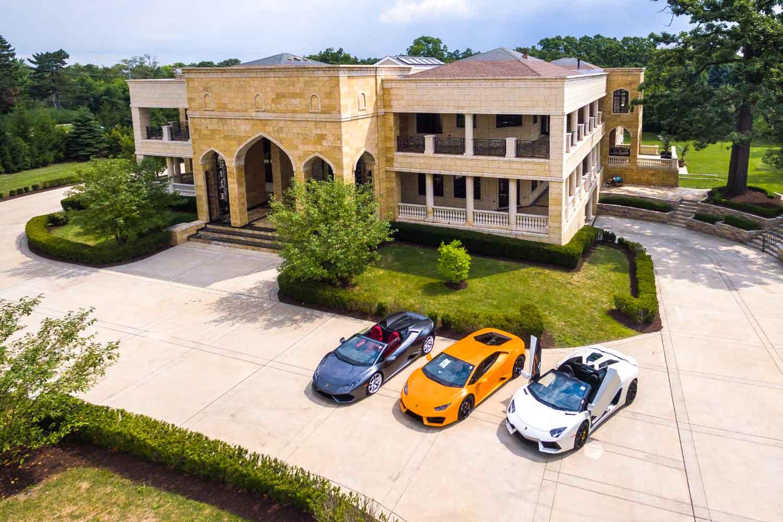 <b>Burr Ridge, Illinois</b><br/><i>8 Bedrooms, 30,097 sq. ft.</i><br/>Handcrafted eight-bedroom mega mansion