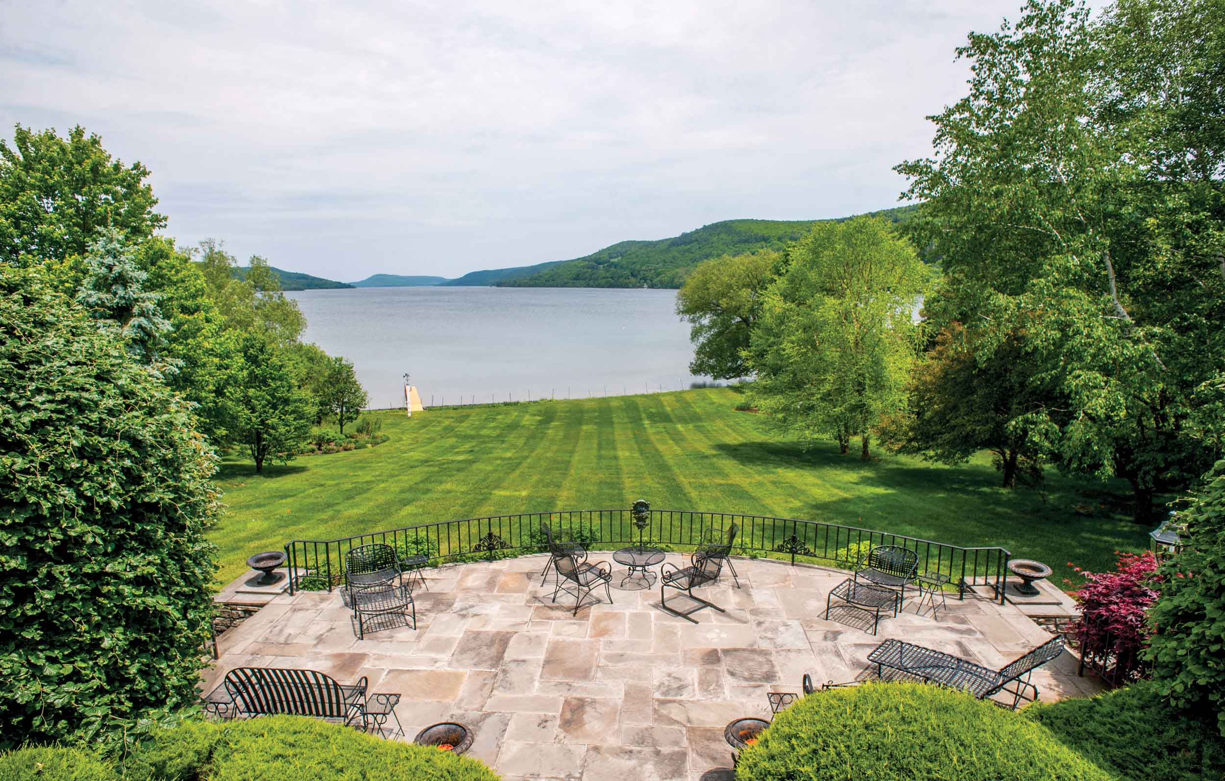 A field of dreams in Cooperstown, New York, on the shores of Lake Otsego