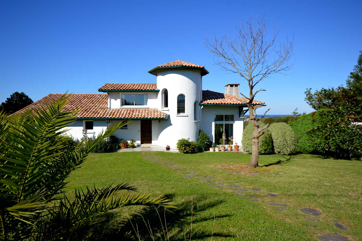 <b>Guethary, Aquitaine, France</b><br/><i>5 Bedrooms, 2,798 sq. ft.</i><br/>Mediterranean villa with sea views