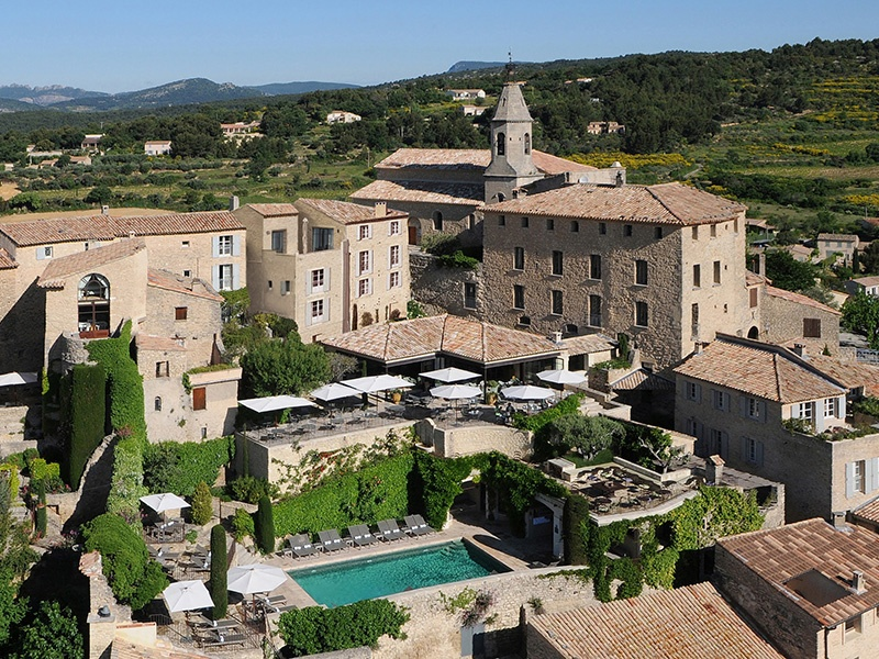 Hotel Crillon le Brave is located in the rose-scented village of Crillon-le-Brave, northeast of Avignon.