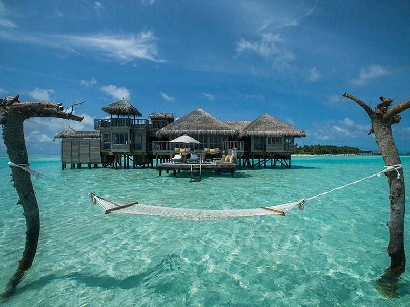 """One of the offshore Crusoe Residences at Gili Lankanfushi, which invites visitors to """"explore a sanctuary hidden from the world."""" Photograph: Saki Papadopoulos"""