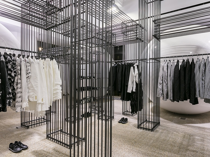 In addition to permanent installations from Comme des Garçons, rotating, exclusive lines from other acclaimed brands also feature.