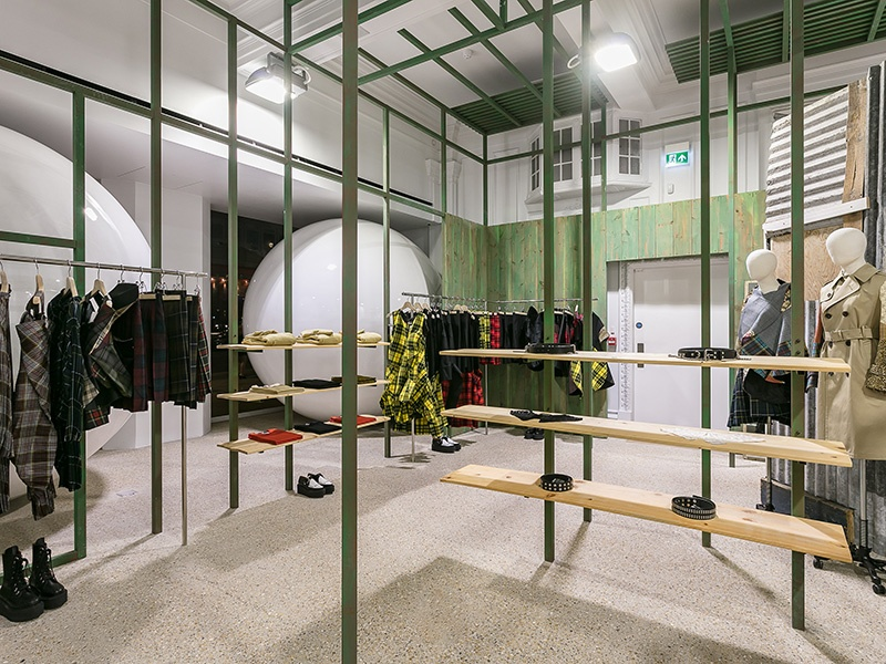 Though the overall interior is designed by Comme des Garçons' Rei Kawakubo, each brand is given the freedom to customize their space.