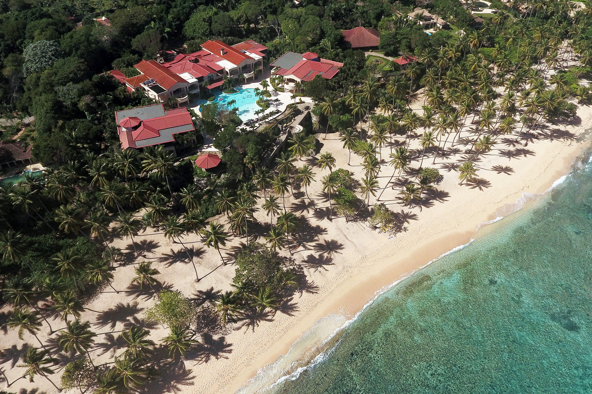 Named after a Tahitian queen, Villa Anacaona is an ultra-private seven-acre compound in the elite community of Orchid Bay on the north shore of the Dominican Republic.