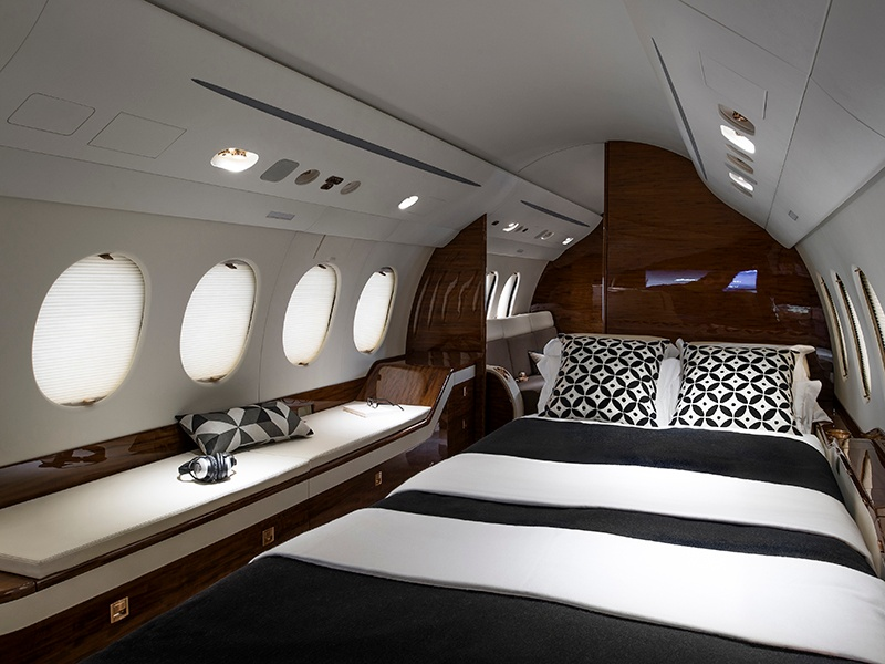 Designed for lengthy missions, the Dassault Falcon 7X is a home away from home with wings. Photograph: Dassault Aviation