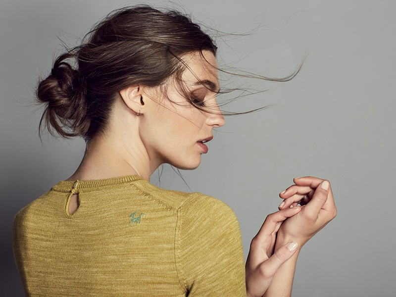 Cashmere and silk sweater by Delam, hand-dyed and woven in Italy, using all natural materials.