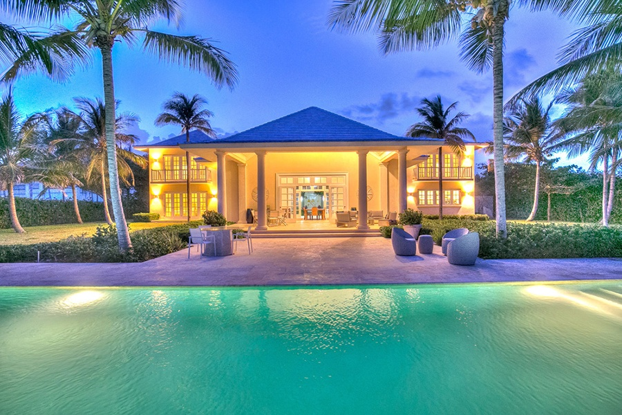 This this five-bedroom villa would make a breathtaking destination for couples and wedding parties who like to play golf, thanks to its dramatic 18-hole golf course designed by renowned golf course architect Tom Fazio.