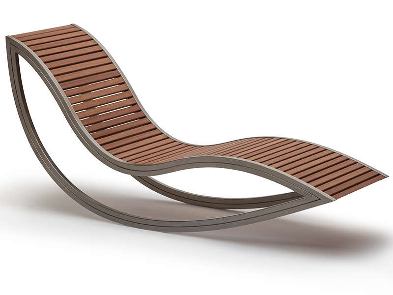 """David Trubridge's Dondola, its name derived from the Italian for &quot;rocker.&quot; The furniture-maker also says he wanted the name to make one think of a <i>gondola</i>, &quot;which also rocks gracefully, as it transports its passengers around the Venice waterways."""""""