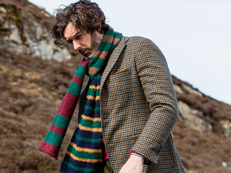 Drake's traveled to the windswept Shetland Islands for its Autumn Winter 2017 lookbook, taking inspiration from the environment for its knitwear and other men's clothing.