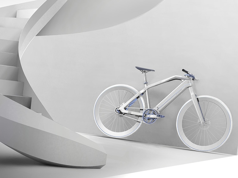 Features of the E-voluzione include a high-torque German Brose motor with belt-drive transmission, 36V Panasonic battery, hydraulic disc brakes, and Shimano components. Photograph: Francesco Fiordelisi/Pininfarina