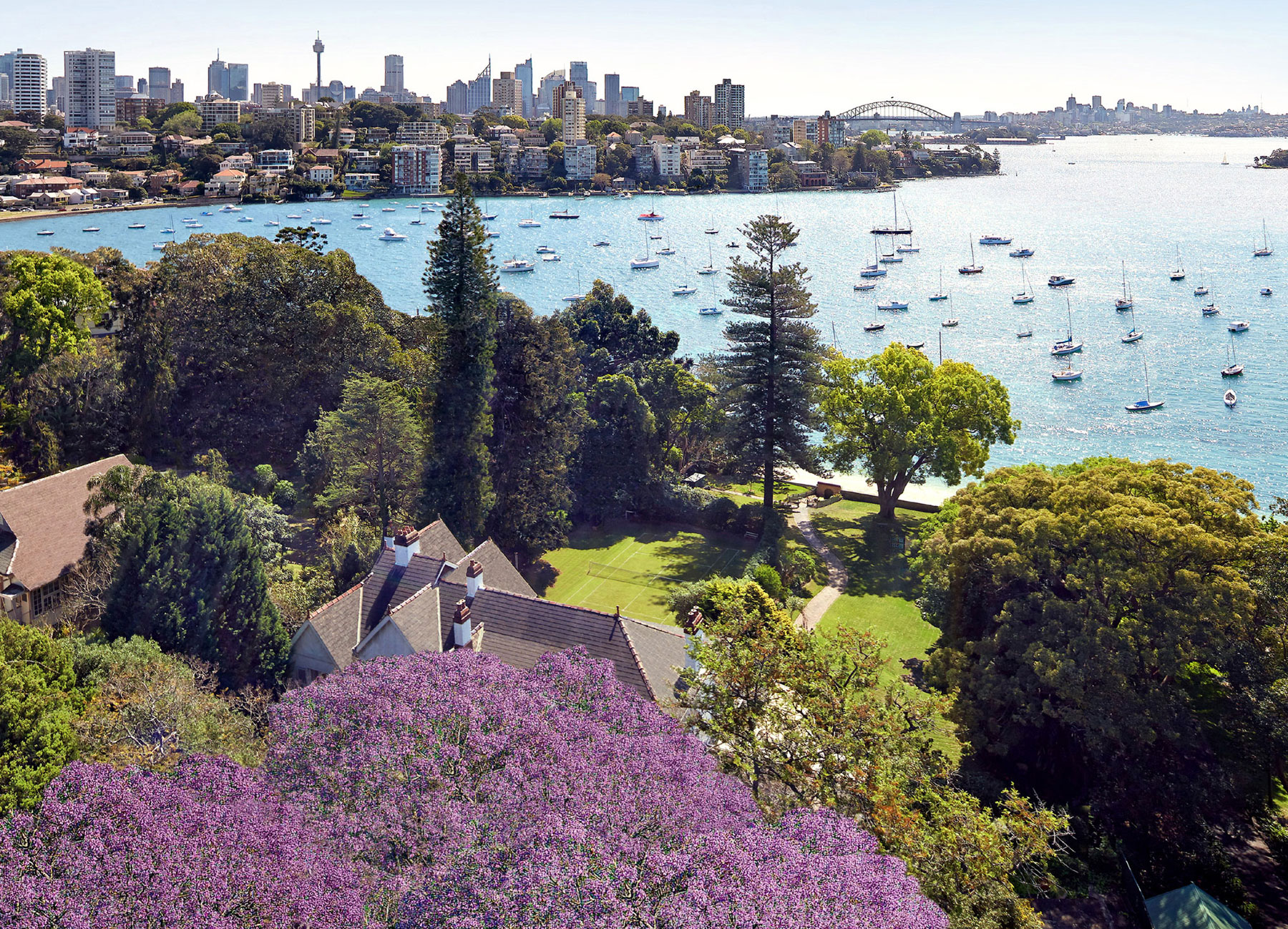 Elaine Gardens is the last of Sydney Harbour's available grand beachfront estates.