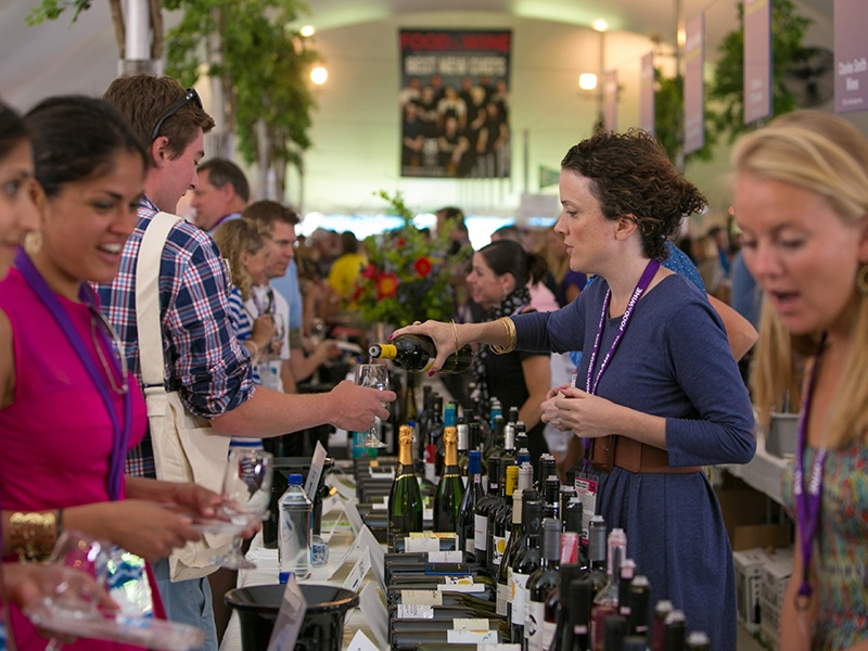 The Food & Wine Classic in Aspen brings together the world's top chefs and vintners in a culinary and beverage celebration. Photograph: Getty Images
