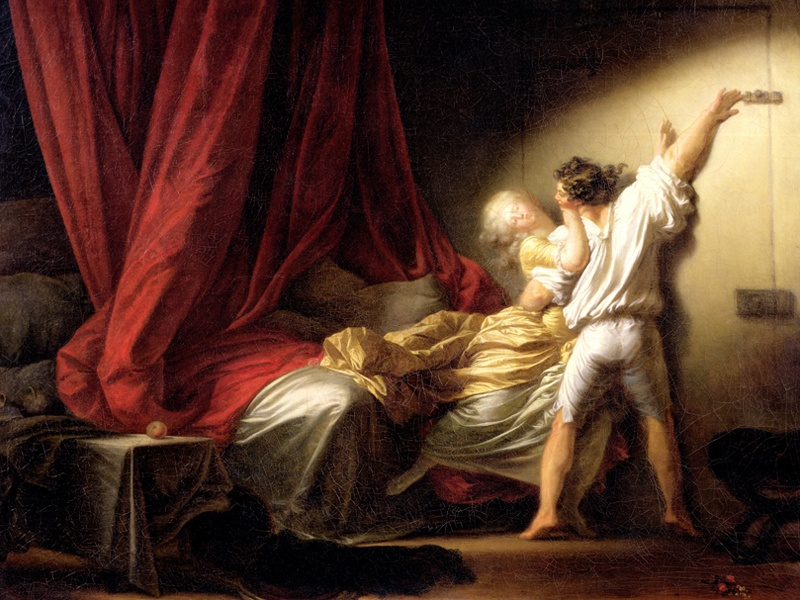 The craquelure affecting <i>The Bolt</i>—painted circa 1777 by Jean-Honoré Fragonard (1732-1806) and now on display at the Louvre, Paris—does not detract from the beauty of the work. Photograph: Getty Images
