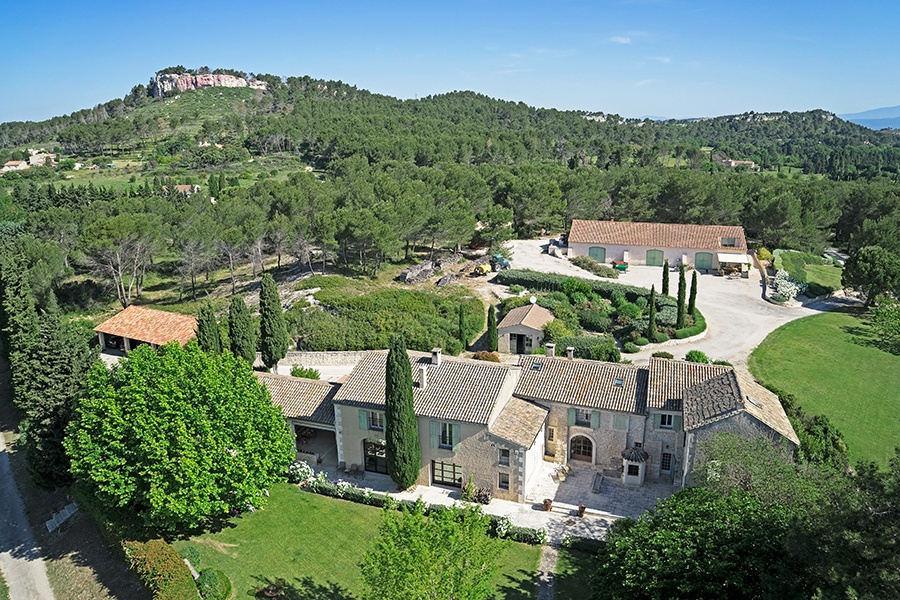 With captivating views over the Alpilles range, this olive oil farm about 23 miles south of Avignon is a unique retreat.