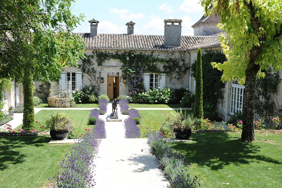 This 17th-century château is picture perfect, arranged as it is around a sunlit central courtyard with lavender-lined paths and ivy-framed doorways that captivate the senses.