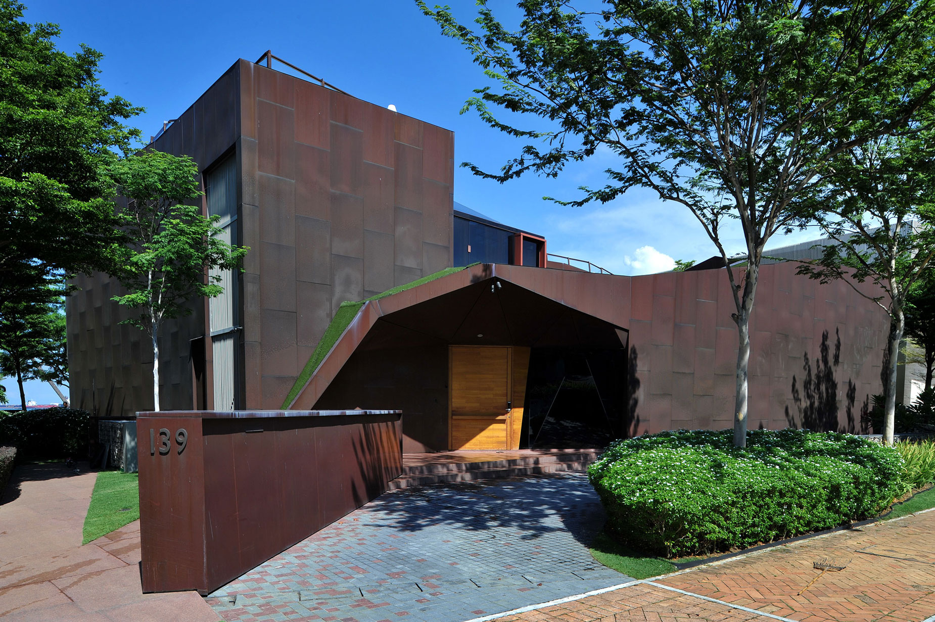 Award-winning Singapore architect Sonny Chan created this masterpiece in copper on the paradisiacal island of Sentosa.