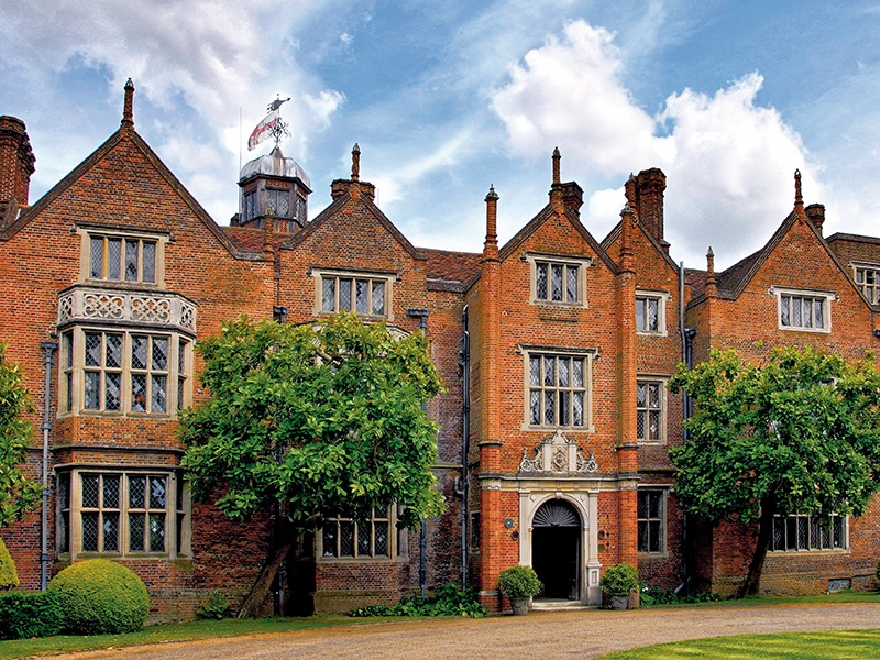 Great Fosters country house hotel is set within 50 acres of gardens and parkland.