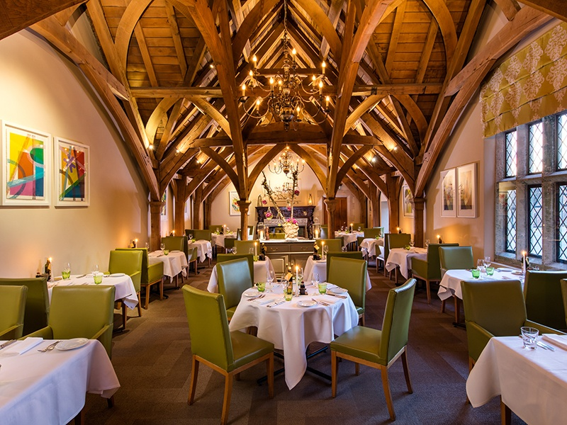 The Estate Grill Room is the more contemporary of two superb restaurants at Great Fosters hotel.