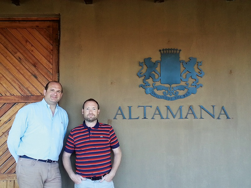 Patrick D'Aulan (left) and Didier Debono founded the Altamana winery in 2012, in the key South American wine region of the Maule Valley, Chile – which is nearly 500 years old.