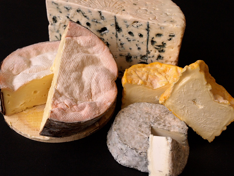 "Cheesemonger George Mewes stocks a wide range of washed rind, blue, and soft and hard cheeses, and is, in Edward Murray's opinion, ""probably one of the best in Britain."""