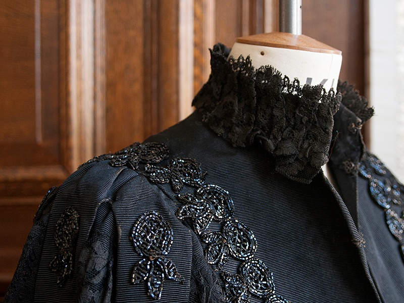 """Once described as """"painting with a needle,"""" embroidery allows Larkin to transform garments into sophisticated works of art. Photograph: Jooney Woodward"""