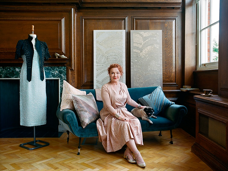 From bespoke interiors to intricate fashion embellishments, Geraldine Larkin's designs have been championed by Alexander McQueen and worn by Michelle Obama. Photograph and banner image: Jooney Woodward