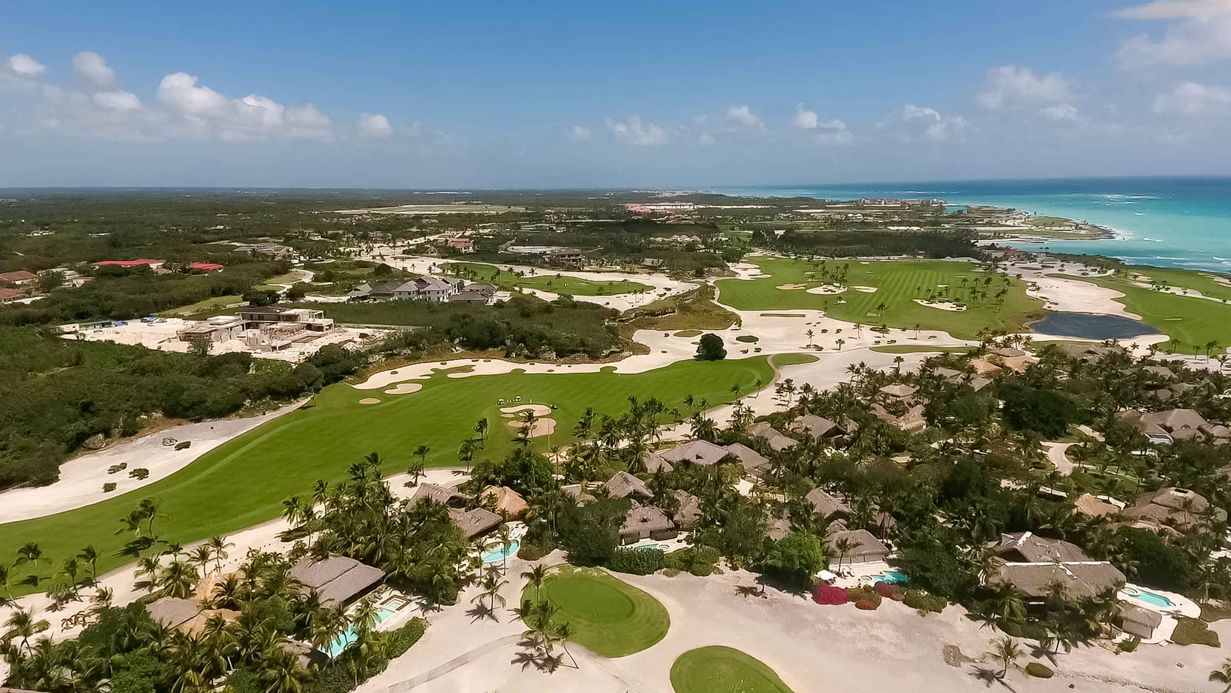 Villa Caleton 14 combines the beach and golf lifestyles thanks to its spectacular setting on the 16th hole of the Punta Espada Golf Course in Cap Cana, Dominican Republic. Host of the PGA Tour's Champions Tour from 2008-2010, the par 72, Jack Nicklaus signature course offers challenging stroke play against the backdrop of the Caribbean Sea.