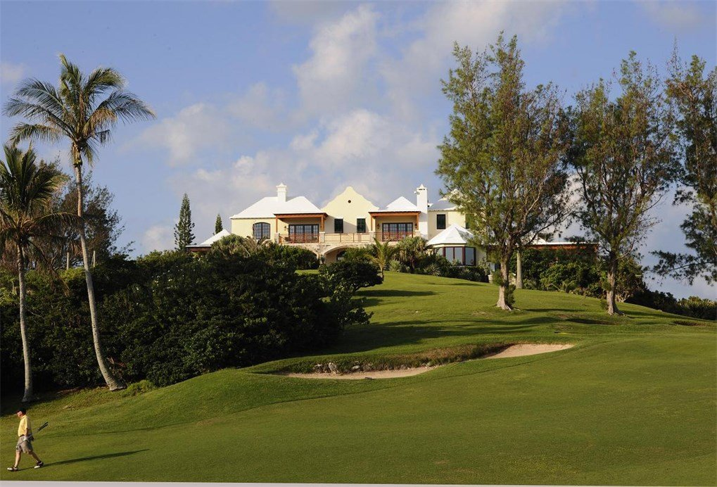 Commanding a hilltop 90 feet above sea level in Bermuda's esteemed Tucker's Town, Roughill is a magnificent 2.5 acre estate overlooking the 2nd and 15th fairways and the 14th hole of the famed Mid-Ocean Club golf course and the turquoise waters of the island's south shore.