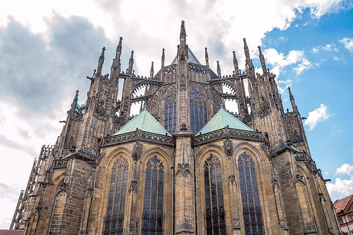 St Vitus Cathedral In Prague Czech Republic Is A Well Preserved And Ornate
