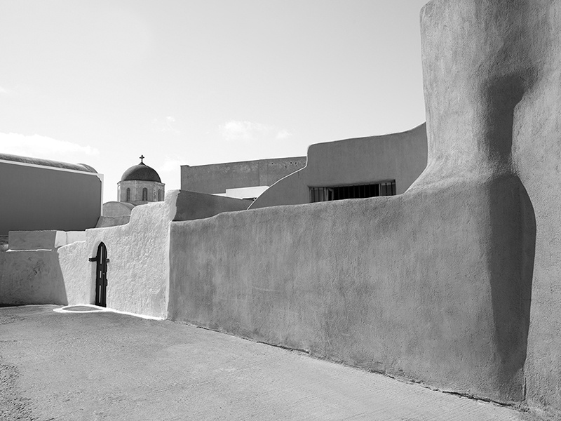 """The Grace Santorini project was inspired by Hephaestus, the Greek god of craftsmen, artisans, and volcanoes, and Calliste, the ancient name for Santorini, meaning """"the best."""" Photograph: Yiorgos Kordakis"""