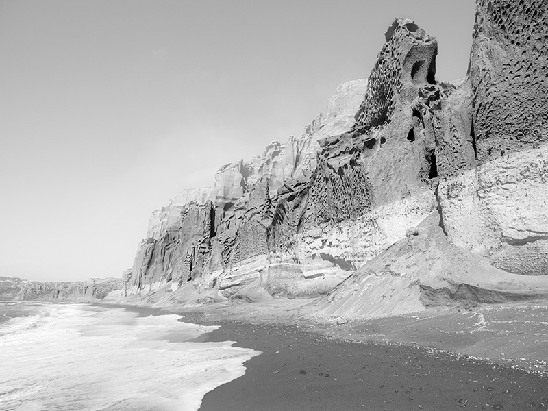 Yiorgos Kordakis captures Santorini's impressive cliffs and unique architecture. Photograph: Yiorgos Kordakis