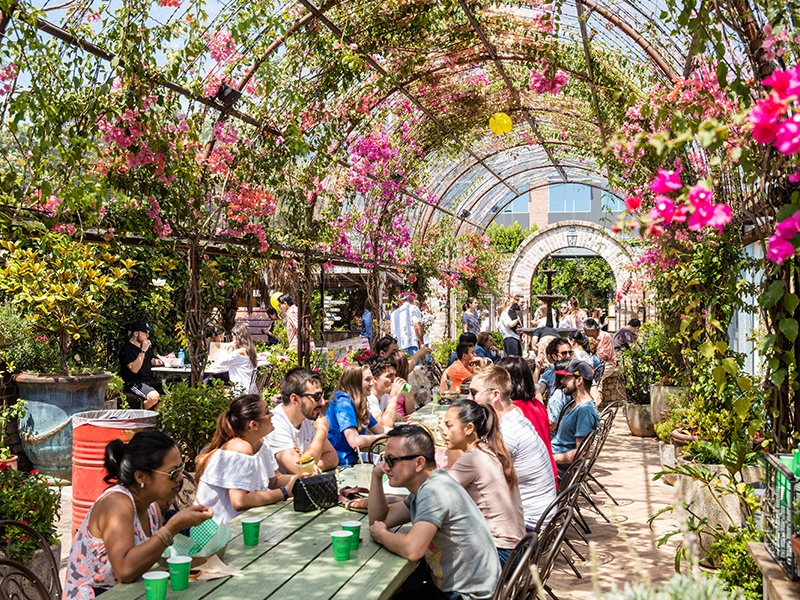 The Grounds of Alexandria is a remarkable brownfield redevelopment success, transforming an abandoned wasteland into a vibrant hub of natural, healthy eating, and sustainability. Photograph: Alamy