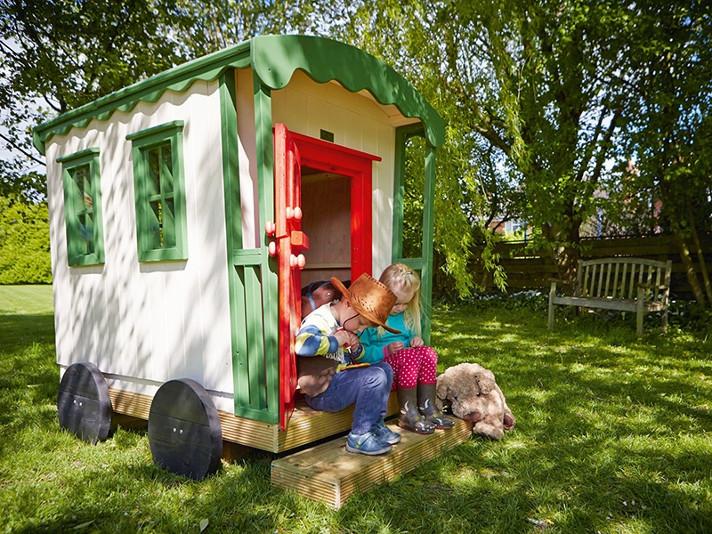 This charming gypsy caravan design is by The Playhouse Company of Hereford, England, UK; the company also specialises in custom-built treehouses.
