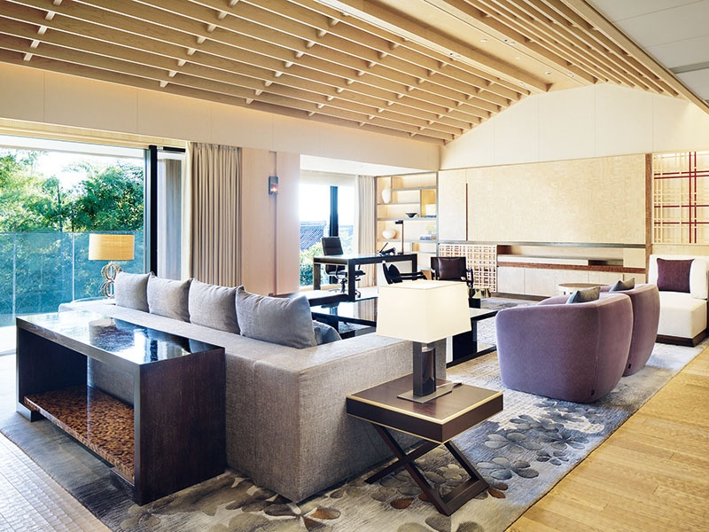 Inside one of the stylish and luxurious apartments at Four Seasons Hotel Residences Kyoto, Japan, designed by HBA Residential's parent company Hirsch Bedner Associates.